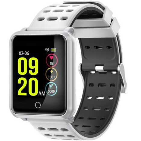Bratara Fitness iUni M88 Plus, Display OLED, Bluetooth, Pedometru, Notificari, Android si iOS, Alb